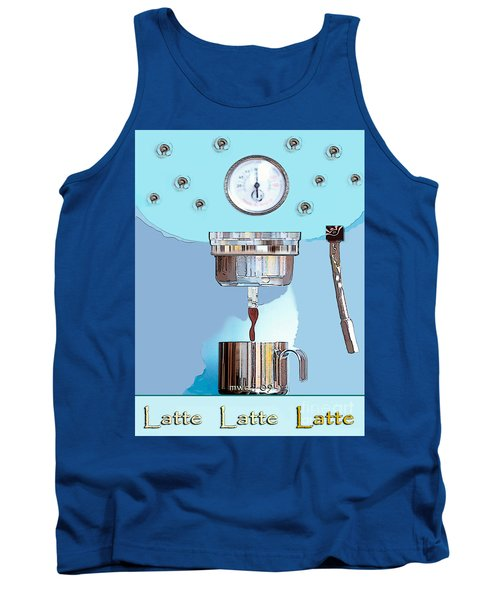 Tank Top featuring the painting Fantasy Espresso Machine by Marian Cates