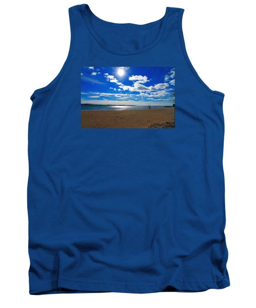 Tank Top featuring the photograph February Blue by Valentino Visentini