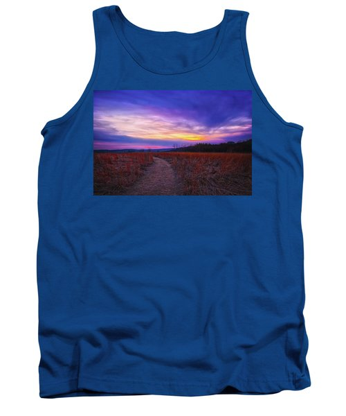 Tank Top featuring the photograph February Sunset And Path At Retzer Nature Center by Jennifer Rondinelli Reilly - Fine Art Photography