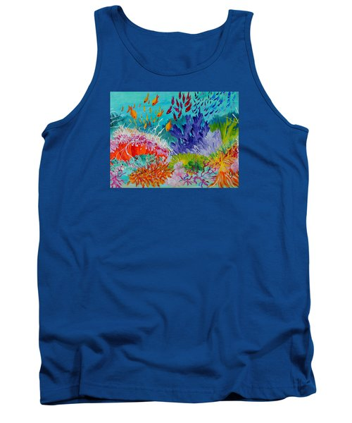 Tank Top featuring the painting Feeding Time On The Reef #2 by Lyn Olsen