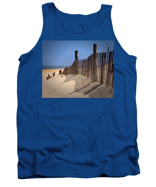 Fenwick Dune Fence And Shadows Tank Top