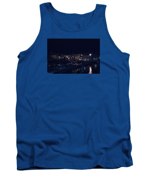 Tank Top featuring the photograph Festive Harbor Lights by Margie Avellino