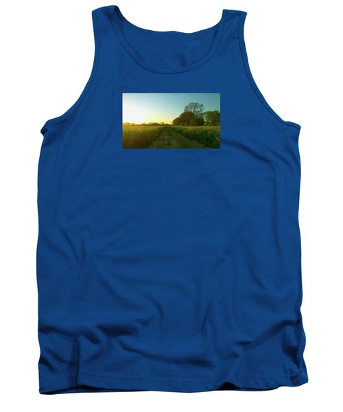 Tank Top featuring the photograph Field Of Gold by Anne Kotan