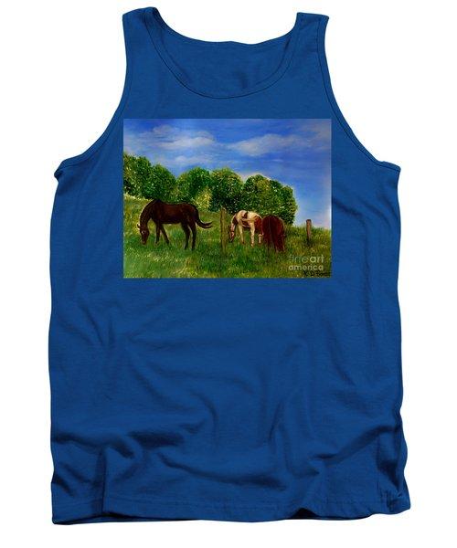Field Of Horses' Dreams Tank Top by Kimberlee Baxter