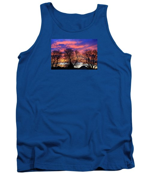 Tank Top featuring the painting Filigree Sunset by Nareeta Martin
