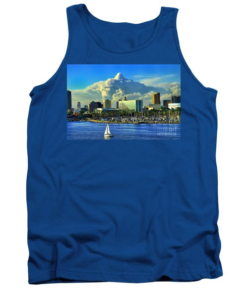 Tank Top featuring the photograph Fire Cloud Over Long Beach by Mariola Bitner