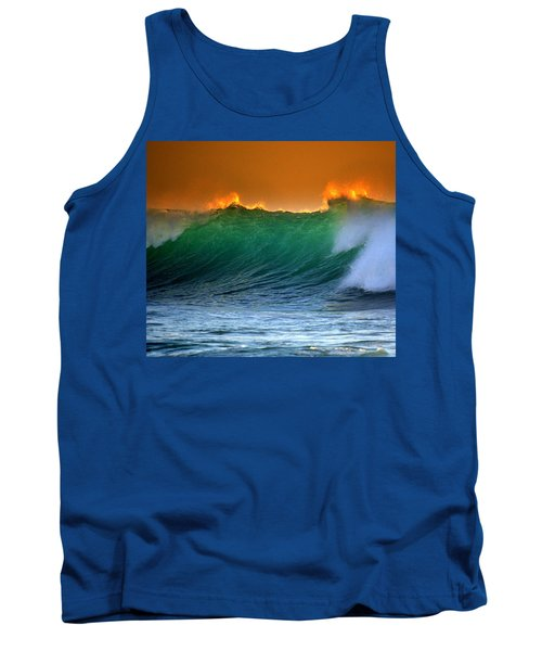 Fire Wave Tank Top by Lori Seaman