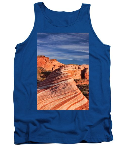 Fire Wave Tank Top by Tammy Espino