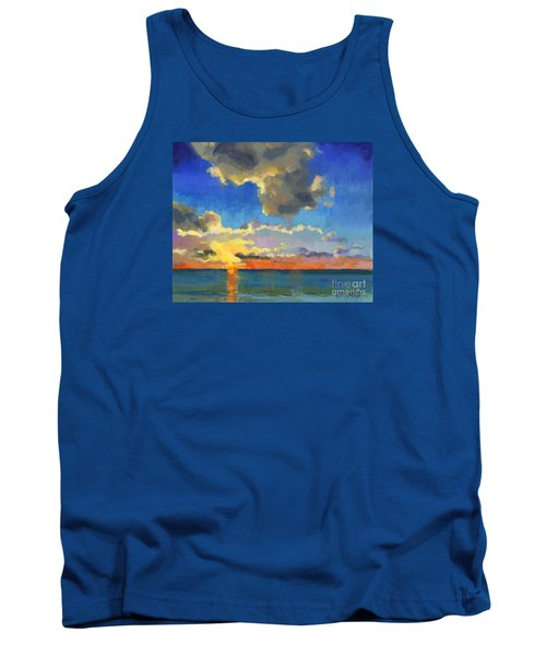Tank Top featuring the painting First Light by Nancy  Parsons