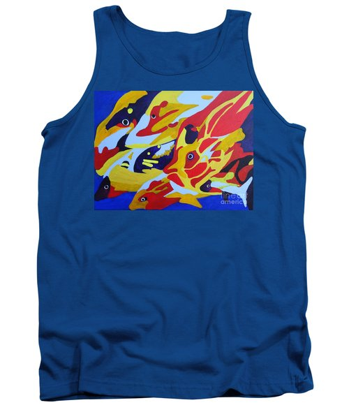 Fish Shoal Abstract 2 Tank Top