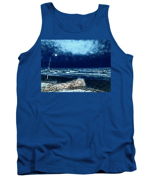 Fishing For The Moon Tank Top