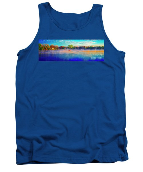 Fishing On Crystal Lake, Il., Sport, Fall Tank Top