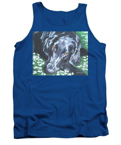 Tank Top featuring the painting Flat Coated Retriever by Lee Ann Shepard