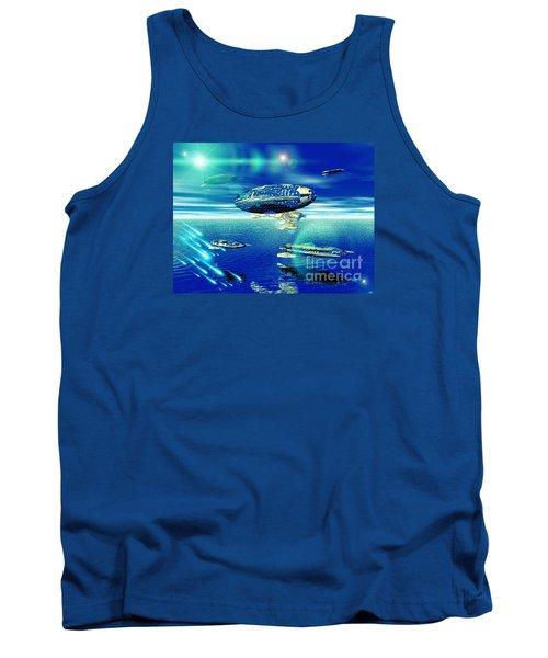 Fleet Aqua Tank Top by Jacqueline Lloyd