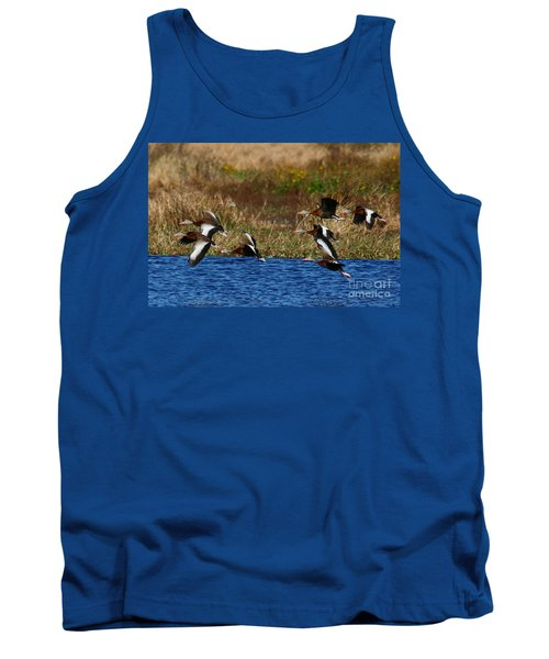 Flight Of The Whistlers Tank Top by Myrna Bradshaw