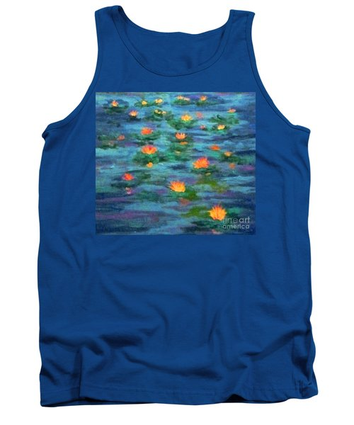 Tank Top featuring the painting Floating Gems by Holly Martinson
