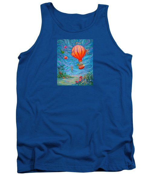 Tank Top featuring the painting Floating Under The Sea by Dee Davis