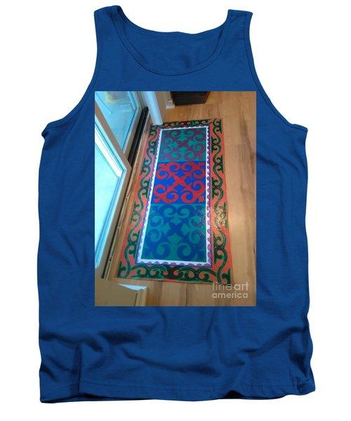 Floor Cloth Arabesque Tank Top by Judith Espinoza