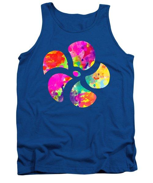 Flower Power 1 - Tee Shirt Design Tank Top by Debbie Portwood