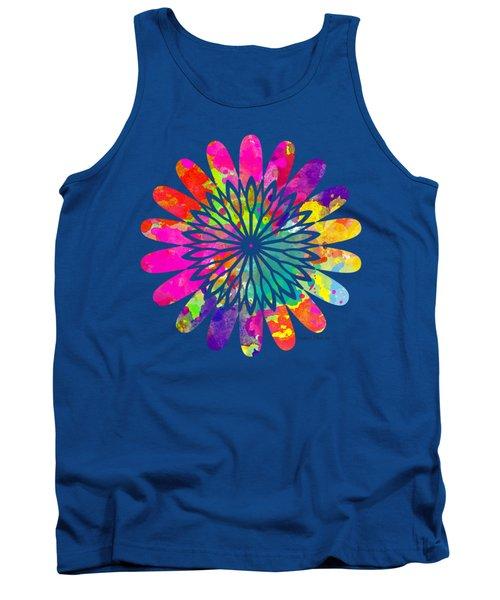 Flower Power 3 - Tee Shirt Design Tank Top by Debbie Portwood