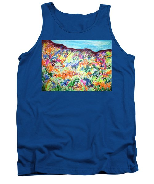 Tank Top featuring the painting Flowering Hills by Esther Newman-Cohen