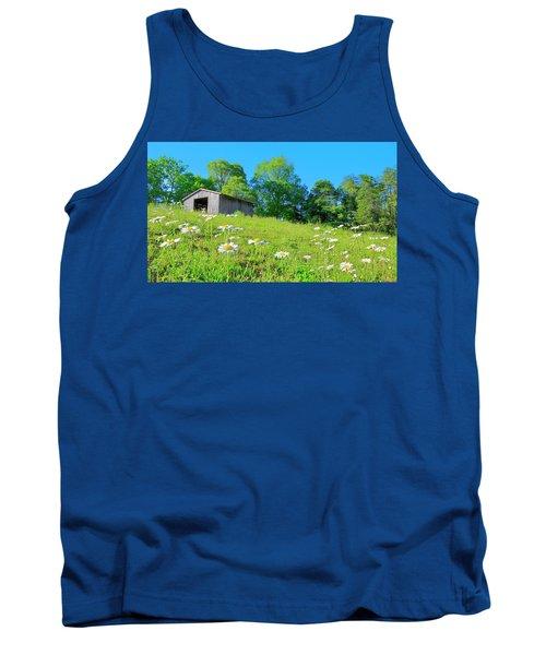 Flowering Hillside Meadow - View 2 Tank Top