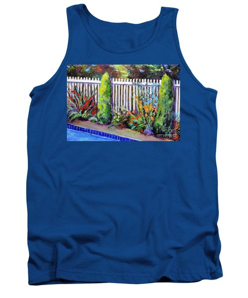 Flowers By The Pool Tank Top