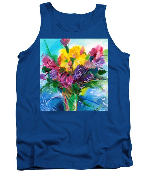 Tank Top featuring the painting Flowers For My Jesus by Karen Showell