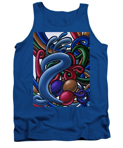Colorful Abstract Art Painting Chromatic Water Artwork  Tank Top