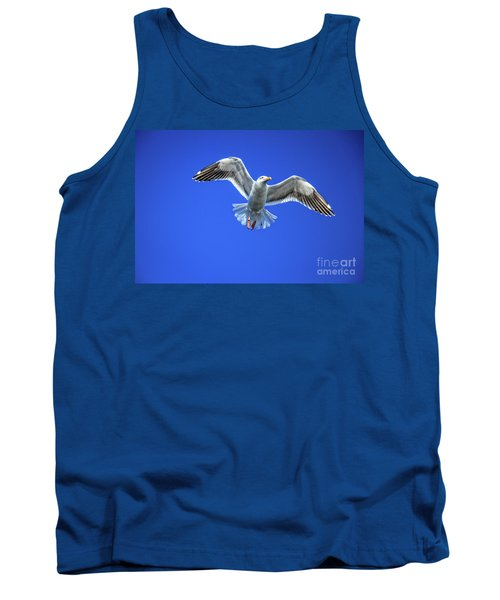 Tank Top featuring the photograph Flying Gull by Robert Bales