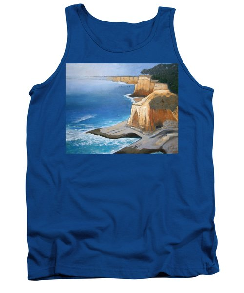 Tank Top featuring the painting Fog Burning Off by Gary Coleman