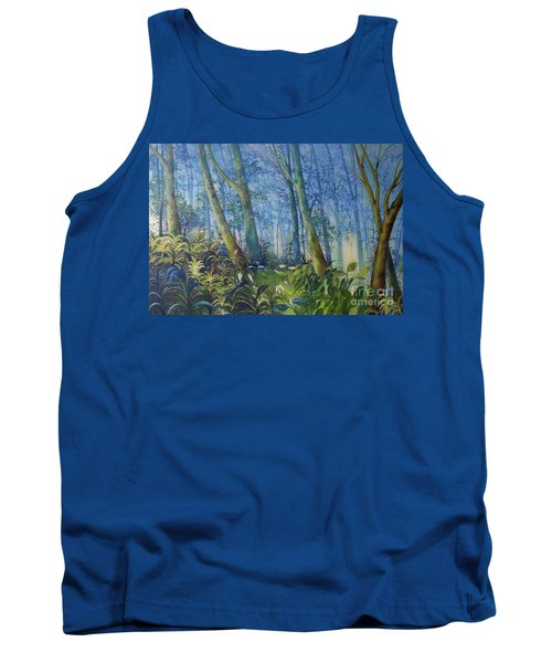 Follow Me Oil Painting Of A Magic Forest Tank Top by Maja Sokolowska