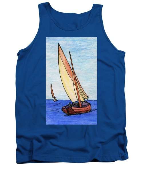 Force Of The Wind On The Sails Tank Top