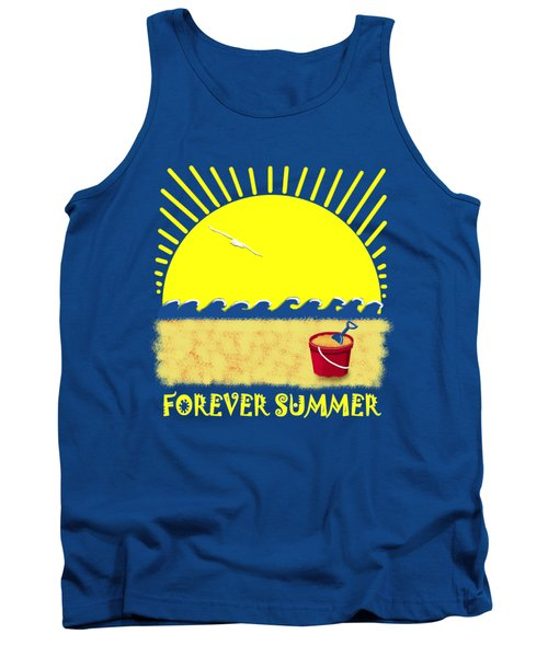 Tank Top featuring the digital art Forever Summer 8 by Linda Lees
