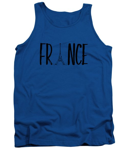 France Typography Tank Top by Melanie Viola