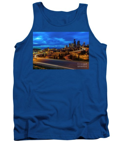 Freeway 5 North To Seattle Tank Top