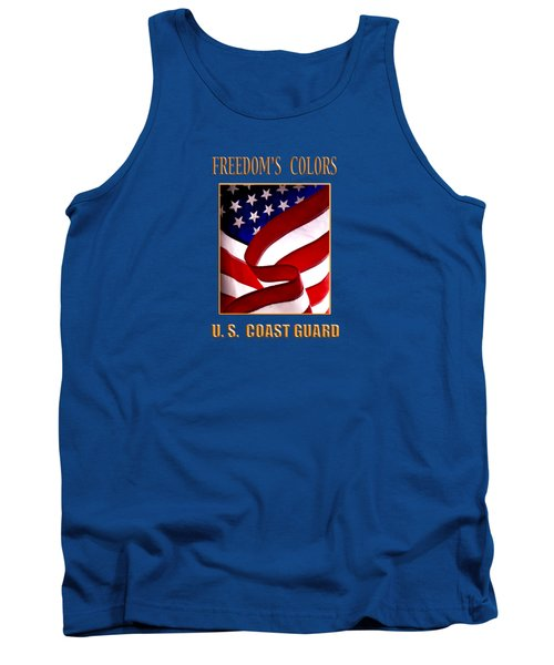 Freedom's Colors Uscg Tank Top by George Robinson
