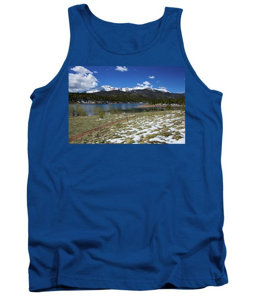 Fresh Snow Along The Banks Of Crystal Creek Reservoir With Pikes Tank Top