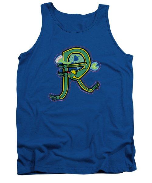 Frog Letter R Blue Tank Top