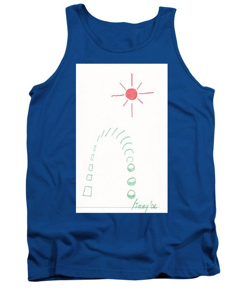Tank Top featuring the drawing From Square To Sphere by Rod Ismay