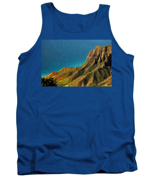 Tank Top featuring the photograph From The Hills Of Kauai by Debbie Karnes