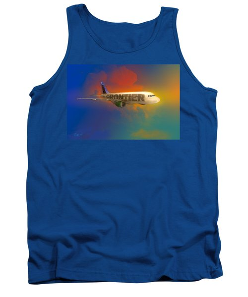 Frontier Airbus A-319 Tank Top by J Griff Griffin