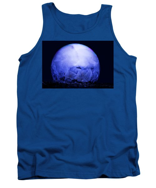 Frozen Bubble Art Blue Tank Top