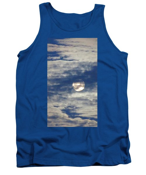 Full Moon In Gemini With Clouds Tank Top