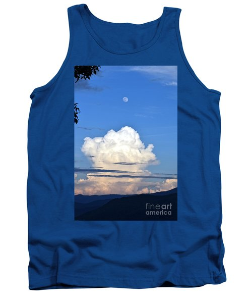 Full Moon Rising Over Blue Ridge Tank Top by Gary Smith