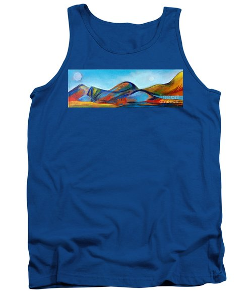 Tank Top featuring the painting Galaxyscape by Elizabeth Fontaine-Barr