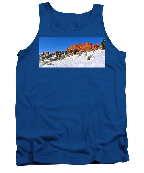 Tank Top featuring the photograph Garden Of The Gods Red And White by Adam Jewell