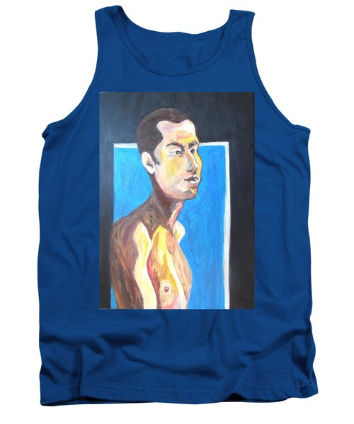 Tank Top featuring the painting Gay Survivor by Esther Newman-Cohen