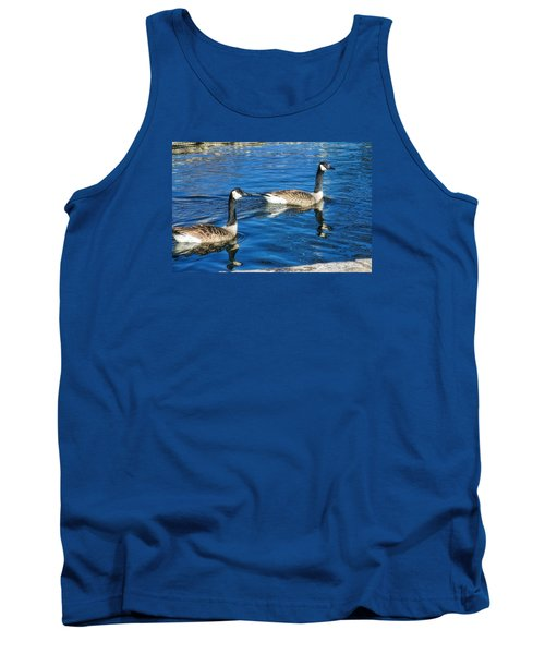 Tank Top featuring the photograph Geese by Joan Bertucci