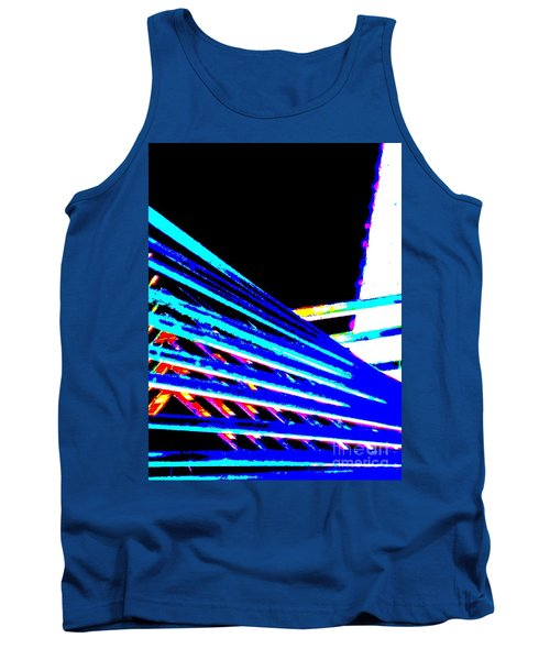 Geometric Waves Tank Top by Tim Townsend
